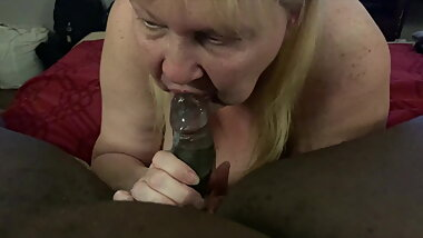 Loaded Granny's Mouth With Cum