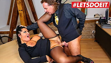 LETSDOEIT - German MILF Ashley Cumstar Has Office Sex With Boss